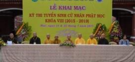 Học Viện Phật Gíao Việt Nam tại Huế thi tuyển sinh cử nhân Phật học khóa VIII (2015 – 2019)