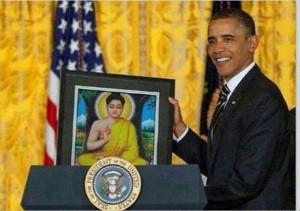 Tổng thống Obama thỉnh Phật vào nhà trắng và thực hành theo lời Phật dạy