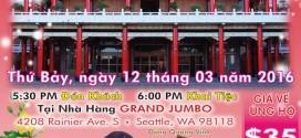 Tiệc Chay Gây Quỹ Xây Đại Hùng Bảo Điện Chùa Vạn Hoa – Seattle. WA