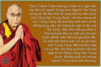 Dalai Lama KHÔNG THÙ GHÉT NGƯỜI TRUNG HOA