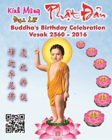 Kính Mừng Lễ Phật Đản. Phật Lịch 2560 – Dương Lịch 2016.